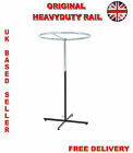 Heavy Duty Circular Garment Clothes Display Rail  Adjustable Height Stand