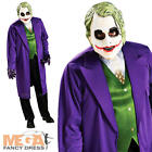 The Joker Mens Batman Dark Knight Villain Halloween Fancy Dress Costume Outfit