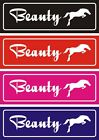 Personalised Horse stable door name plate/plaque/sign set5 30CM X 10CM gift idea