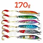 Fish WOW! 170g Knife Jig 6oz Vertical Trolling Speed jigs w/ two Assist Hook