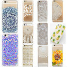 Novelty Henna Mandala Blossom Ornament Soft TPU Case Cover For iPhone Series