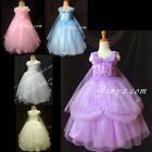 #PF9 Flower Girl Wedding Junior Bridesmaid Holy Communion Pageant Gowns Dresses
