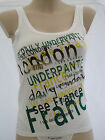 Puma Bodywear Daily Cotton Gr.S & M Stretch Tank Top France Typographic Cat Logo