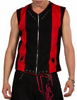 NEW DEAD THREADS BLACK & RED CYBER GOTHIC RAVE WAISTCOAT S-XXL