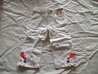 NWT GYMBOREE SURF ADVENTURE WHITE CROPPED PANTS ELASTIC WAIST 5T