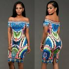 New Women Summer Casual Bandage Bodycon Floral Evening Party Cocktail Mini Dress