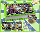 Grand Theft Auto V Birthday Cake topper Edible sugar decal 5 picture sheet top