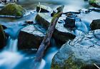 Large Slow Waterfall Earby North Yorkshire Canvas Picture Wall Art