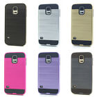Lot/6 Brushed Finish Hybrid Case for Samsung Galaxy S5 Wholesale