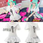 NEW HOT SELL!Vocaloid MIKU Cosplay Costume Summer Fashion White Dress