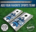 Cornhole Vinyl Decals  Bag Toss Board Wraps  ANY SOCCER TEAM -  PAIR