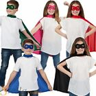 Child Superhero Cape & Mask Halloween Fancy Dress Costume Boys Girls Outfit