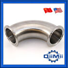 "90 Degree Tri Clamp Elbow Sanitary SS304 Stainless Steel 1""-4""  3A"