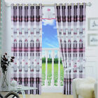 HIGA Grey 1 Piece Jacquard Sun Shade Blackout Window Curtains/Panels/Treatments