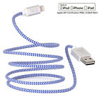 MFi Strong Braided Lightning Sync Data Cable USB Charger For iPhone SE 5 6 6s 1M