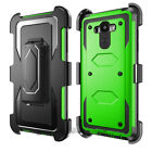Rugged Armor Shockproof Hybrid Hard Belt Clip Case Cover +Accessory For LG Phone