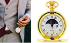 Boxx Sun and Moon Phase Dial Pocket Watch 12 Inch Chain BOXX192 image