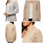 New Leo & Nicole Womens Open Knit Long Cardigan Sweater YOU PICK COLOR & SIZE