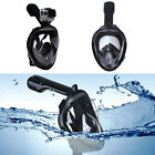 Swimming Full Face Mask Surface Diving Snorkel Scuba for GoPro Swim M /XL