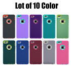 Lot of 10 Protective Hybrid Shockproof Hard Case Cover For iPhone 6/6S 7/ 8 Plus