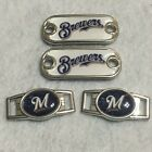 2 ~Milwaukee Brewers MLB Paracord Charms Oval or Mini Dog Tag shoelace charms