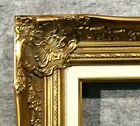 "4"" Gold Leaf with liner Wood Antique Picture Frame wide photo art gallery B9GL"
