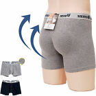Mens Hip Up Volume Up Padded Drawers Underwear Shaper Panty Butt Boxer Gray Navy
