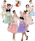 "HELL BUNNY 50's rockabilly LONG (25/27"") jive swing PETTICOAT pastel"