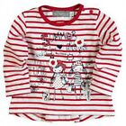 **NEW** BABY GIRLS BOBOLI KNIT TSHIRT RED STRIPE 218001 WINTER SUMMER TEE