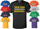 Custom Basketball Jersey T-Shirt with YOUR TEAM NAME Size S-4XL practice league image