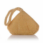 Fashion Alumium Sequins Women Evening Clutch Bag Party Wedding Purse Handbag US