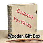 Customised Wooden Book Box Idea Gift Storage Armoire Watch Case Home Decor