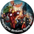 Avengers cake topper edible rice paper. Personalised!