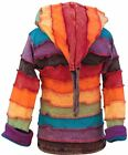 Multicoloured Funky Faded Rainbow Children Jacket Pixie Fun Hippie Kids Hoodie