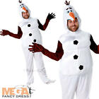 Olaf Adults Frozen Fancy Dress Disney Snow Man Mens Ladies Christimas Costume