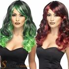 Ladies Witch Wig Wavy Ombre Womens Halloween Fancy Dress Costume Accessory