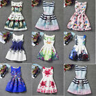 Baby Girls Toddler Kid Flower Princess Party Pageant Wedding Sleeveless Dresses
