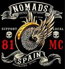039 Hells Angels Nomads Spain Support 81 T-Shirt Winged Wheel Maglietta Nuovo !