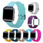 Rainbow Frame Soft Silicone WristWatch Bands Replace Strap For Fitbit Blaze