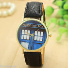Unisex Womens Mens Quartz Wrist Watch Police Box Fashion Dress Watch