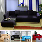 L-Shape Sofa 5 Pure Colors Removable Stretch Sofa Slipcover Couch Pillow Covers