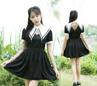 Sweet Lolita Artistic Vintage Cross Gothic Dress preppy style Short Sleeve#H89
