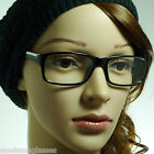 VINTAGE Nerd Thin Men Women Rectangle Fashion Frame Clear Lens Eye Glasses NEW