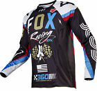 Fox Racing Mens Black/White/Blue/Red 360 Rhor Dirt Bike Jersey 2017 ATV MX