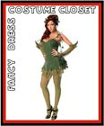 Poison Ivy Dark Knight Rises Batman Fancy Dress Costume Villain Ladies Outfit