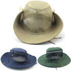Men's Cool Outdoor Fishing Hiking Hunt Camp Sun Hat Canvas Boonie Cap Wide Brim