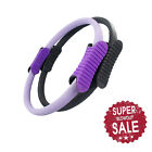 "Dual Pilates Ring Magic Circle Grip Yoga Ring Fitness 14"" Balck/Purple"