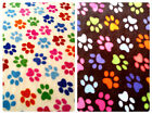 Half Metre of Multi Colour Paw Print Pattern Polar Fleece Fabric - 150cm wide