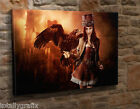 Extra Large Canvas Wall Art Picture Print Steampunk Woman Gothic Goth  KA32