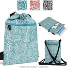 6 - 8 inch Tablet Paisley Protective Drawstring Backpack Case Cover BG10P2B2-3